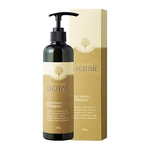 Dầu gội thảo dược Legitime Rich Moisture Shampoo sạch gàu Hàn Quốc 300ml Tặng Móc khóa 2
