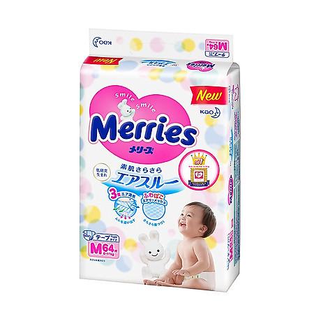 Combo 2 Tã Dán Merries M64 tặng khăn tắm sợi tre hình thỏ đáng yêu và đồ chơi tắm Toys House 2