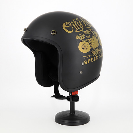 Mũ Bảo Hiểm 3 4 Đầu Tem Xe Siêu Chất - Mũ Bảo Hiểm Chuyên Phượt Cao Cấp 1