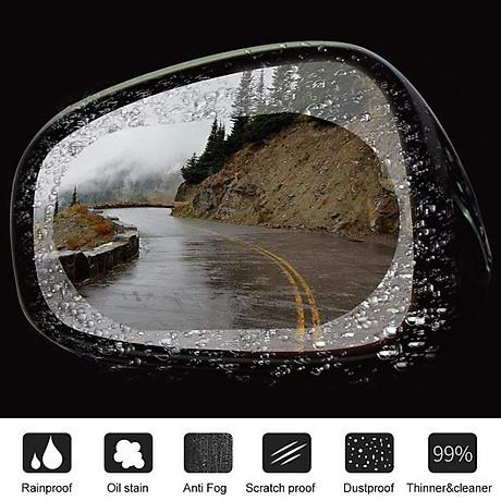 Miếng dán chống nước mưa gương xe 100x145mm 3