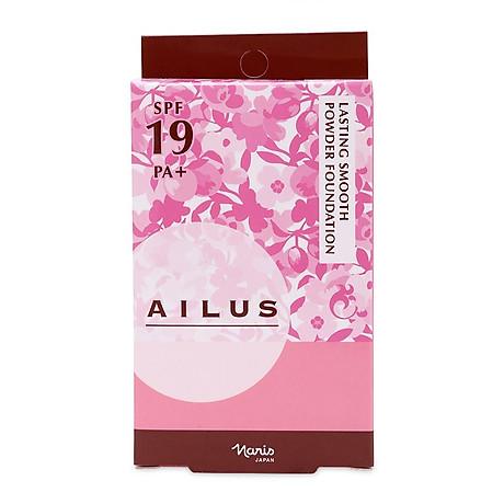Phấn nền mỏng mịn lâu trôi Ailus Lasting Smooth Powder Nhật Bản 10g ( 140 Trắng hồng) + Móc khóa 4