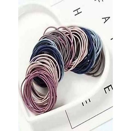 Set 100 dây chun buộc tóc trơn các màu 3