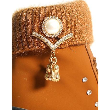 Giày boot nữ đế vuông S106 (Nâu) êm chân, phù hợp đi bộ, đi chơi. 6