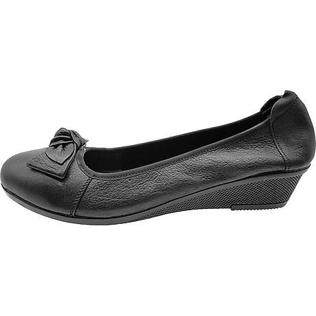Giày Đế Xuồng 3cm Da Bò Thật Cực Mềm Đẹp Đơn Giản Sang Trọng, Cổ Chun Ôm Chắc Chân 3P0316 3