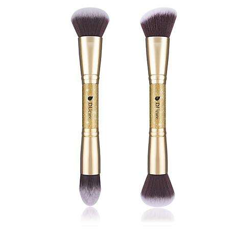 Combo cọ trang điểm DUcare 2 PCS Double-ended Makeup Brushes Foundation Powder Contour Brush 5