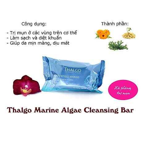 Xà phòng trị mụn lưng Thalgo Marine Algae Cleansing Bar 2