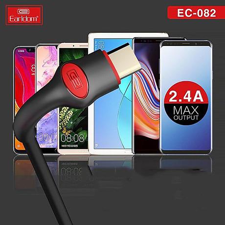 Cáp Sạc Earldom 1M cho các dòng điện thoại EC-082 - HÀNG CHÍNH HÃNG 100% (giao màu ngẫu nhiên) 3