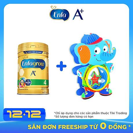 Combo 1 lon sữa bột Enfagrow A+ 4 870g - Tặng 1 đồ chơi trống lắp ghép sáng tạo 1