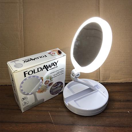 Gương trang điểm gấp gọn có đèn led 6