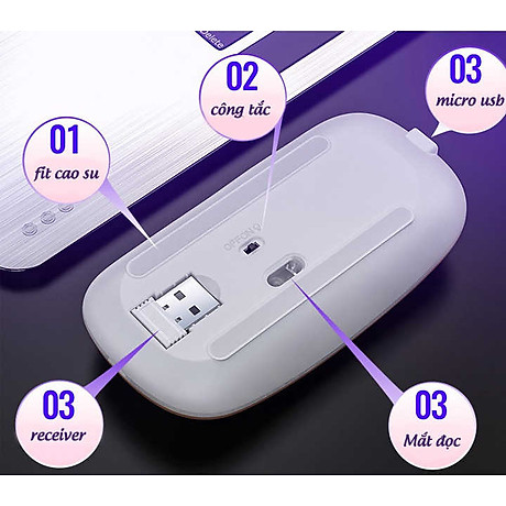 Chuột Wireless Fantech MX Master (Cổng sạc MICRO USB - Có Thể Sạc Lại) - Hàng Chính Hãng VN A 3