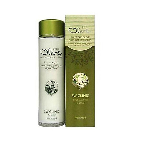 Sữa dưỡng trắng da tinh chất dầu Olive 3W CLINIC Hàn Quốc 150ml 5