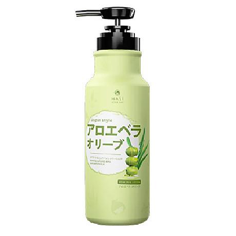 Sữa tắm Hasi Kokeshi dưỡng ẩm, trắng da chiết xuất Nha đam và Oliu - White & pure spa shower milk with Aloe vera extract and Olive oil 1