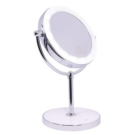 Gương trang điểm đặt bàn led xoay 2 mặt RM160-DL 1