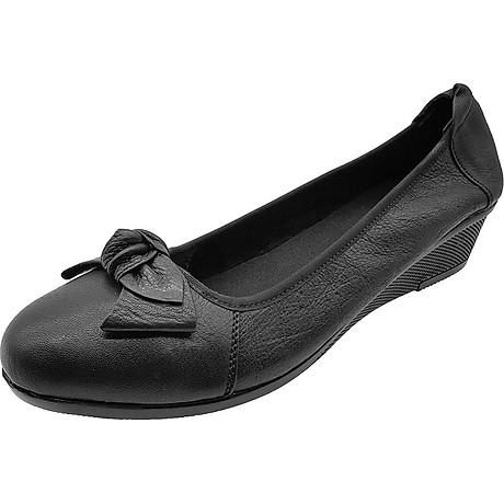Giày Đế Xuồng 3cm Da Bò Thật Cực Mềm Đẹp Đơn Giản Sang Trọng, Cổ Chun Ôm Chắc Chân 3P0316 4