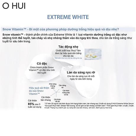 Bộ Tinh chất và Kem dưỡng trắng OHUI Extreme White 10x1ml gói-Gimmick 3
