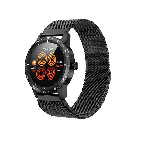 Đồng hồ thông minh đo nhịp tim, huyết áp T5 ( Sang trọng, độc đáo ) - Hàng Nhập Khẩu - Dây thép đen 1