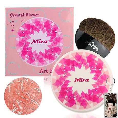 Phấn Má Hồng Mira Crystal Flower Art Blusher Hàn Quốc 10g No.3 Chiffon Orange tặng kèm móc khóa 1