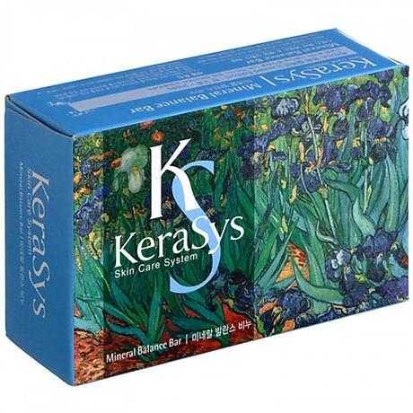 Xà bông tắm dưỡng da Kerasys Mineral Balance Bar Hàn Quốc 100g - Dành cho da dầu + Móc khoá 2