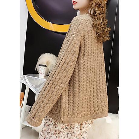 Áo khoác len dáng dài kiểu áo khoác đơn giản phối túi GOTI 1867 5
