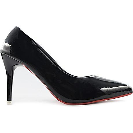 Giày Cao Gót Nữ Bít Mũi Da Trơn Gót Nhọn 7cm 4