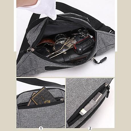 Túi đeo chéo bao tử nam nữ thời trang nhiều ngăn MIBAG41 5