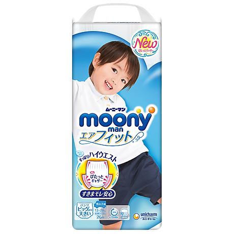 Tã Quần Cao Cấp Moony Nhật Bản Bé Trai XXL26 (26 Miếng) 2