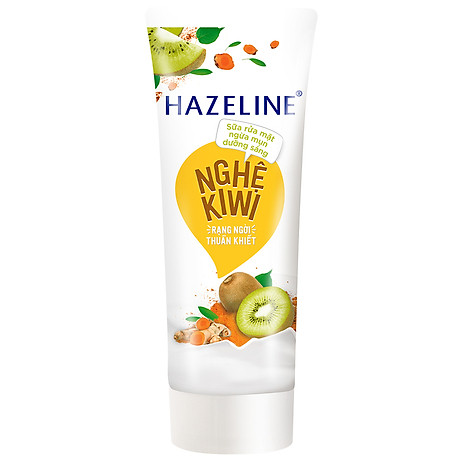 Sữa Rửa Mặt Sáng Da Hazeline Kiwi Nghệ 67183449 (100g) 1