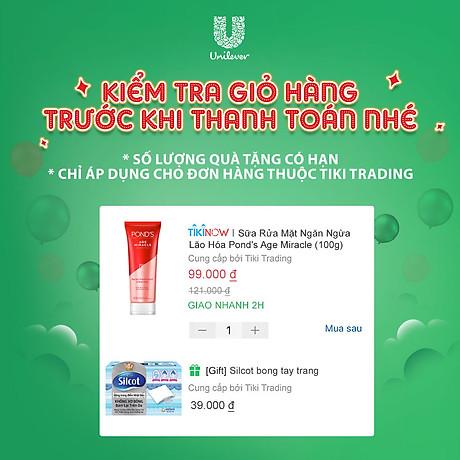 Sữa Rửa Mặt Ngăn Ngừa Lão Hóa Pond s Age Miracle (100g) 3