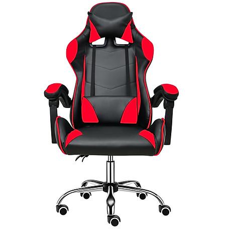 BG Ghế chơi game cao cấp dành cho các game thủ, chân xoay ngã 135 độ Mẫu E02N01 màu đỏ phối đen (Hàng nhập khẩu) 2