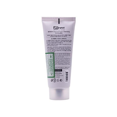 Sữa rửa mặt cao cấp Hàn Quốc cho da dầu than hoạt tính Benew Charcoal Foam Cleansing (100ml) Hàng Chính Hãng + Tặng bút bi mực nước 3