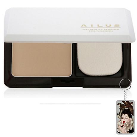 Phấn nền sáng da Naris Ailus WH Beauty Powder Foundation Nhật Bản 10g + Móc khóa 1