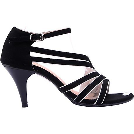 Giày Sandal Nữ Cao Gót Huy Hoàng HT7061 - Đen 4