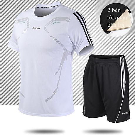 Bộ quần áo thể thao nam ngắn tay nhanh khô thể dục thể thao thoáng khí - NB001 2