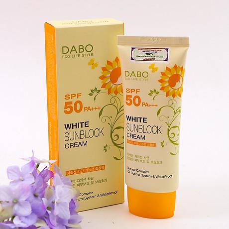 Kem Chống Nắng Dưỡng Da Dabo White Sunblock Cream SPF 50 PA+++ (70ml) - Hàn Quốc Chính Hãng 5