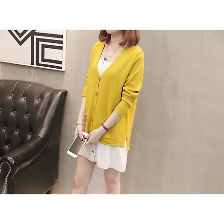 Áo cardigan len nữ 2 túi trước thời trang phong cách Hàn Quốc DV15 4