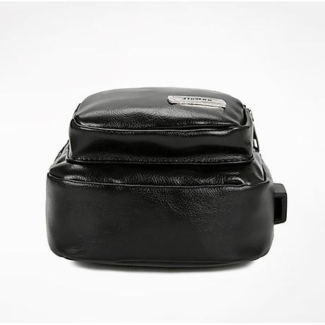 Túi đeo chéo nam da PU tiện dụng-đen 4