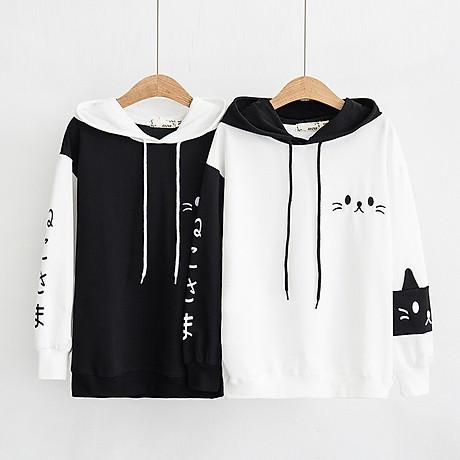 áo hoodie nỉ mèo xinh độc đáo 3