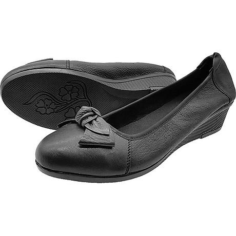 Giày Đế Xuồng 3cm Da Bò Thật Cực Mềm Đẹp Đơn Giản Sang Trọng, Cổ Chun Ôm Chắc Chân 3P0316 5