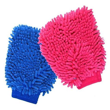 Bộ 2 chiếc găng tay lau rửa xe chuyên dụng đa năng thấm hút tốt (Màu ngẫu nhiên) 7