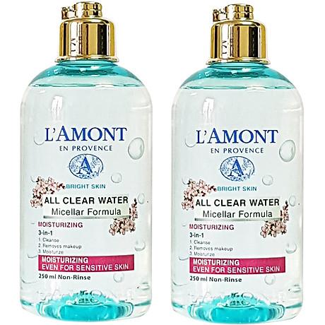 Combo 2 Nước Tẩy Trang Dưỡng Ẩm Sáng Da All Clean Water Micellar Fomula Moisturizing Lamont En Provence (250m x 2 Chail) 1
