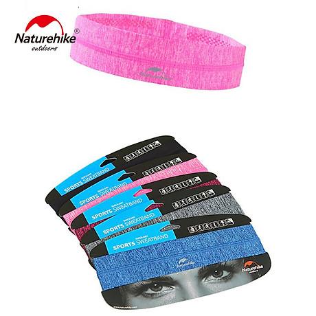 Băng đô Băng trán thể thao Headband NatureHike hàng chính hãng cho nam và nữ thấm hút mồ hôi nhanh 4