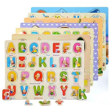 Đồ chơi lắp ráp bảng núm gỗ cho bé (23x30x0.5) 3