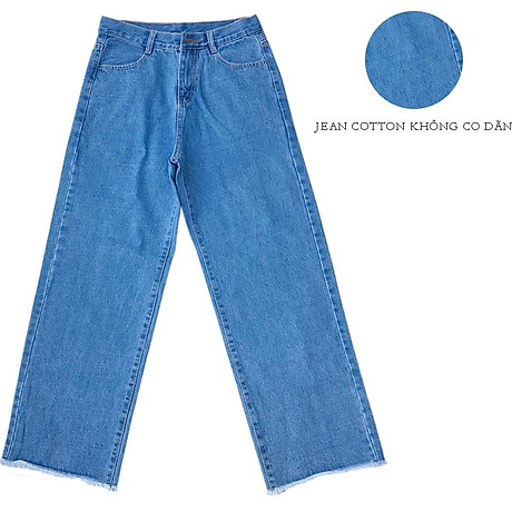 Quần Jean Nữ Ống Rộng Cotton 9 Tất (từ 45kg-56kg) 3