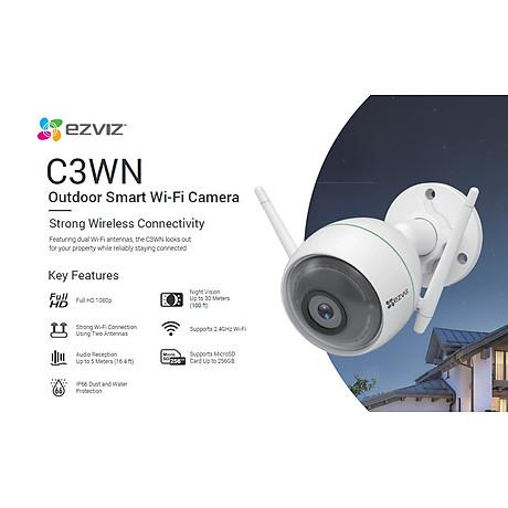Camera IP Wifi ngoài trời EZVIZ C3WN 1080P - hổ trợ thẻ nhớ lên đến 256G - hàng nhập khẩu 3