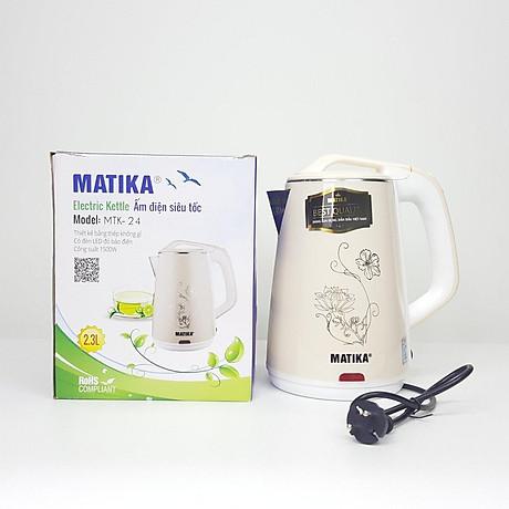 Ấm siêu tốc Matika MTK-24 (màu trắng) - Hàng Chính Hãng | Bình đun siêu tốc  | SoSanhGiaz.Com