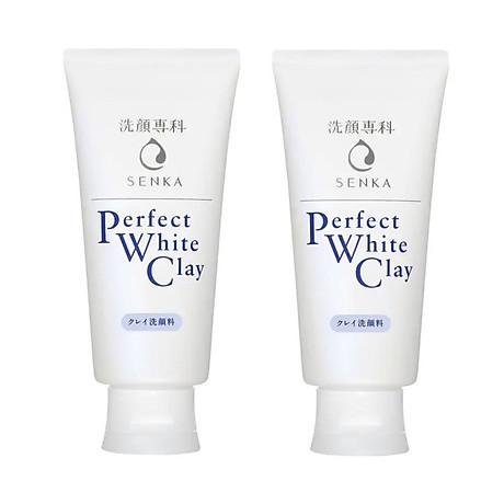 Combo 2 Tuýp Sữa Rửa Mặt Đất Sét Trắng Sạch Sâu Sáng Mịn Senka Perfect White Clay Chiết Xuất Tơ Tằm Dưỡng Ẩm (120g) 1