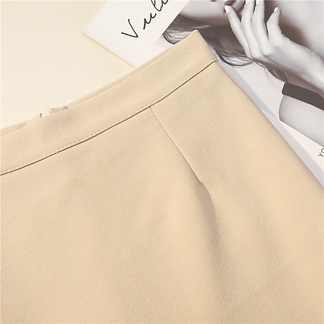 Chân váy công sở đẹp Louro L700, có lớp lót quần bên trong, dáng ngắn chữ A vẩy đuôi cá nhẹ, dễ kết hợp trang phục, đi làm đi chơi,tặng quần mặc trong váy cotton cao cấp 4