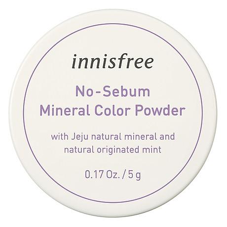 Phấn Phủ Kiềm Dầu Dạng Bột Khoáng Có Màu Innisfree No Sebum Mineral Color Powder 5G 1