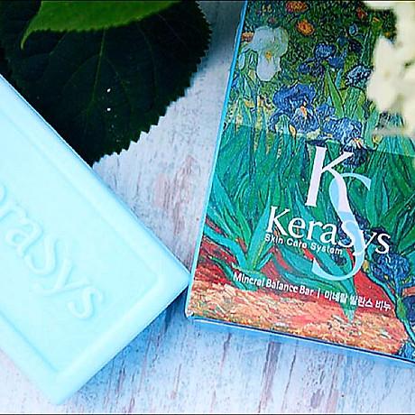 Xà bông tắm dưỡng da Kerasys Mineral Balance Bar Hàn Quốc 100g - Dành cho da dầu + Móc khoá 3