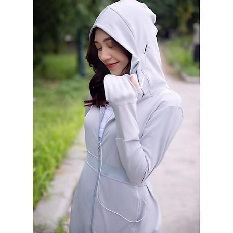 Áo chống nắng nữ liền thân, vải dày, dài tới gót chân, chống tia UV 7